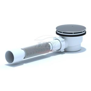 Ани (Е325С) Сифон Ани (для душ/под.+гиб/труба h65) 1 1/2″х90