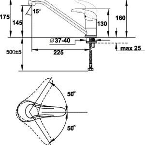 ARGO KT-Wave Кухня (латунь) d-40мм 40-01/KT