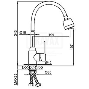 Frap F-48993 (кухня) боковая сатин гибкий нос SUS 304 (10)
