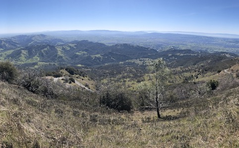 View from Mount Diablo Summit