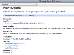 6. NSArray Example