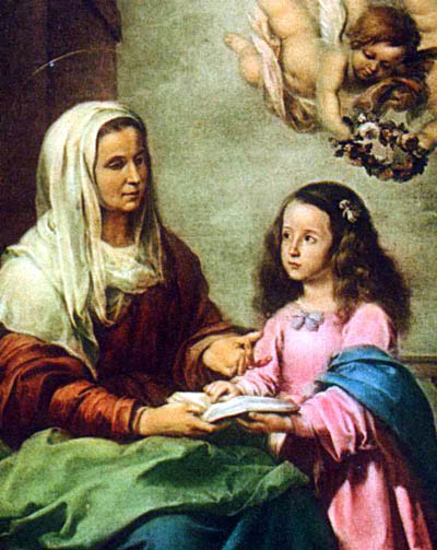 St. Anne teaching Mary