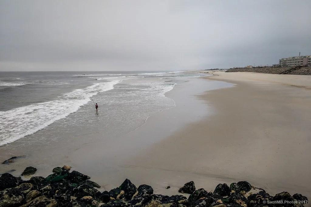 La playa para él solo