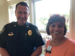 Police Chief William Dalton, Board Member Nancy Siegel