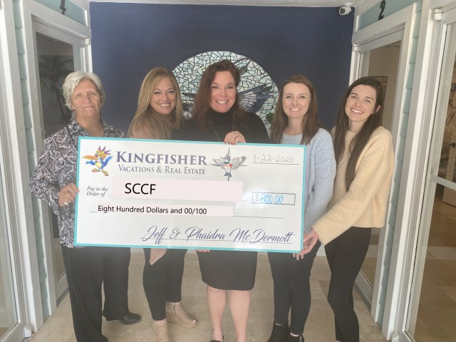 Kingfisher Real Estate Makes Donation to SCCF