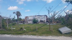 Homes were badly destroyed by Hurricane Dorian