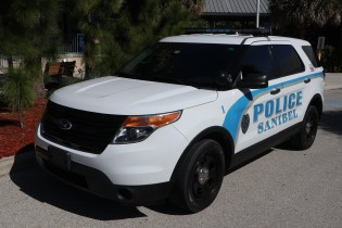 The old Sanibel Police vehicle model. SC photo by Chuck Larsen