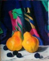 Klunk_A Pair of Pears_oil on linen