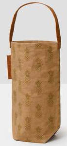 A wine tote is part of Nature Store2's exclusive line of Out of the Woods products is sustainable, vegan, washable, and reusable