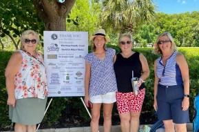 Sanibel School Fund's Megan Doss (2nd from L) with three Sanibel School teachers: Barbara Scarnato (Math), Kelly Johnson (STEM), and Nancy McDole (Home Ec.)
