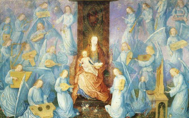Anjos dos tronos na hierarquia dos anjos cristãos