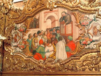 Milagre da bilocação – Quadro na sacristia
