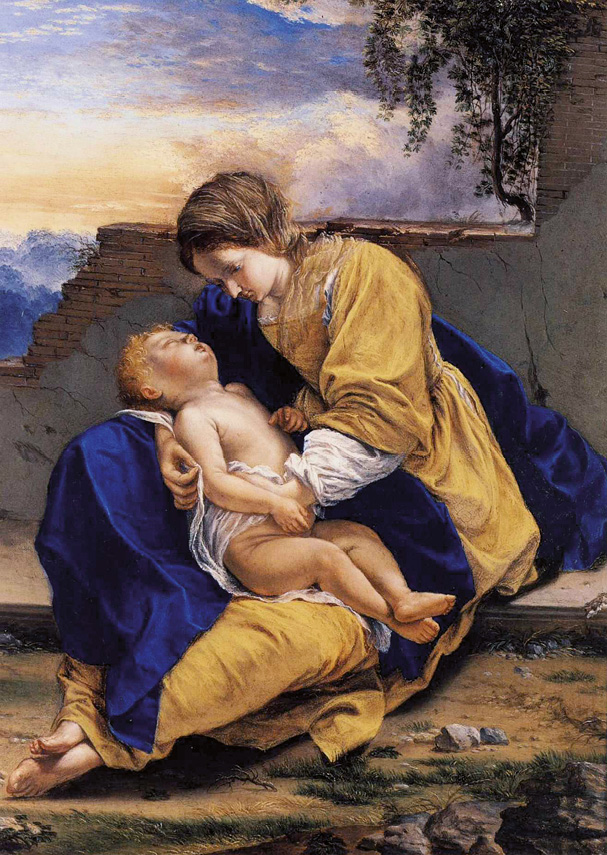 Maria e o Menino na fuga para o Egipto, Orazio Gentileschi, sec. XVII