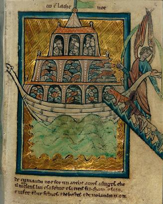 Manuscrito com 24 folhas de imagens bíblicas de William de Brailes, artista inglês, Oxford, Inglaterra, meados do século XIII. World Digital Library, in https://www.wdl.org/