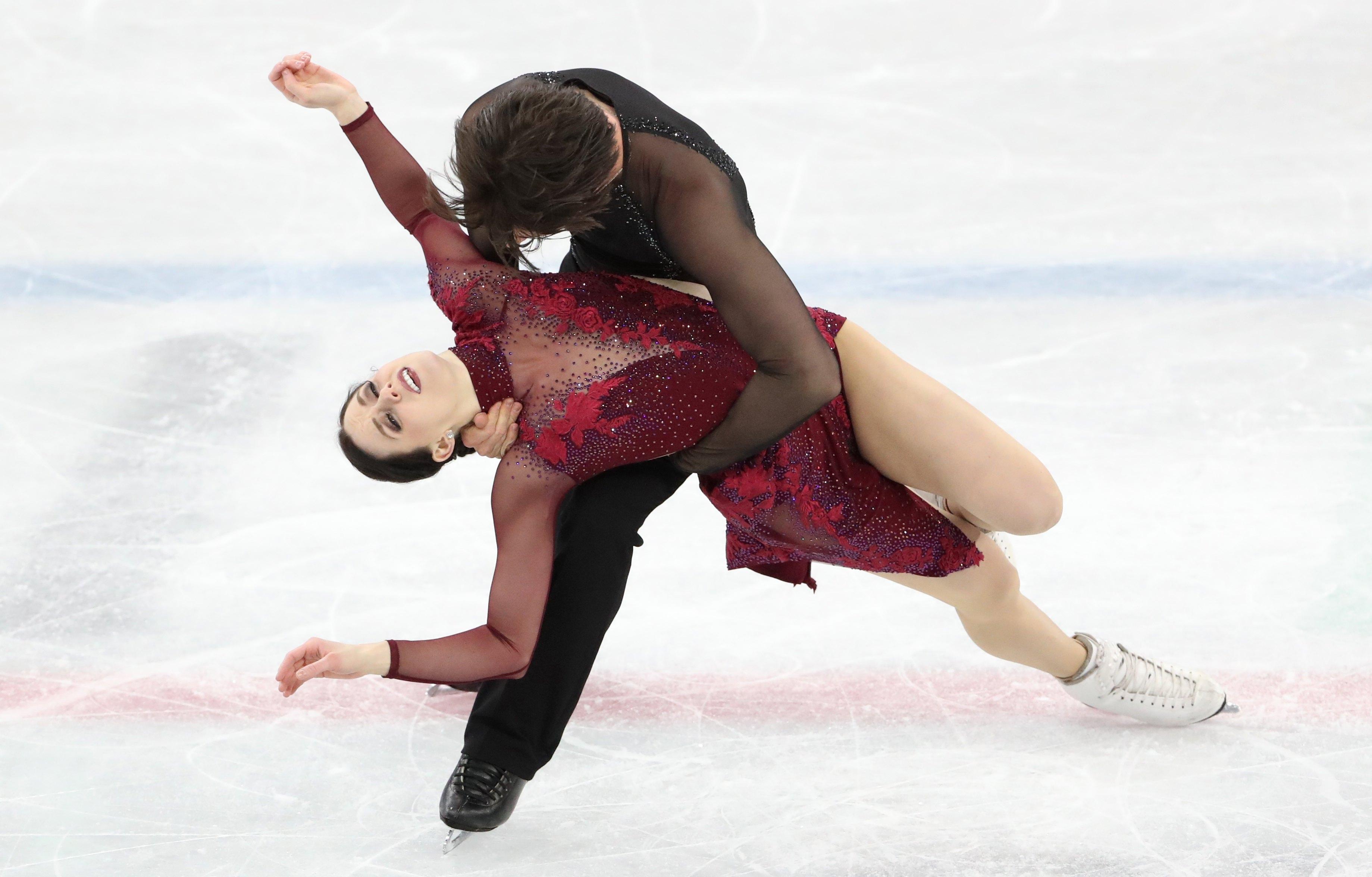 Tessa Virtue e Scott Moir do Canadá, competição de Dança Livre no Gelo, Jogos Olímpicos PyeongChang 2018, Coréia do Sul. EPA / TATYANA ZENKOVICH