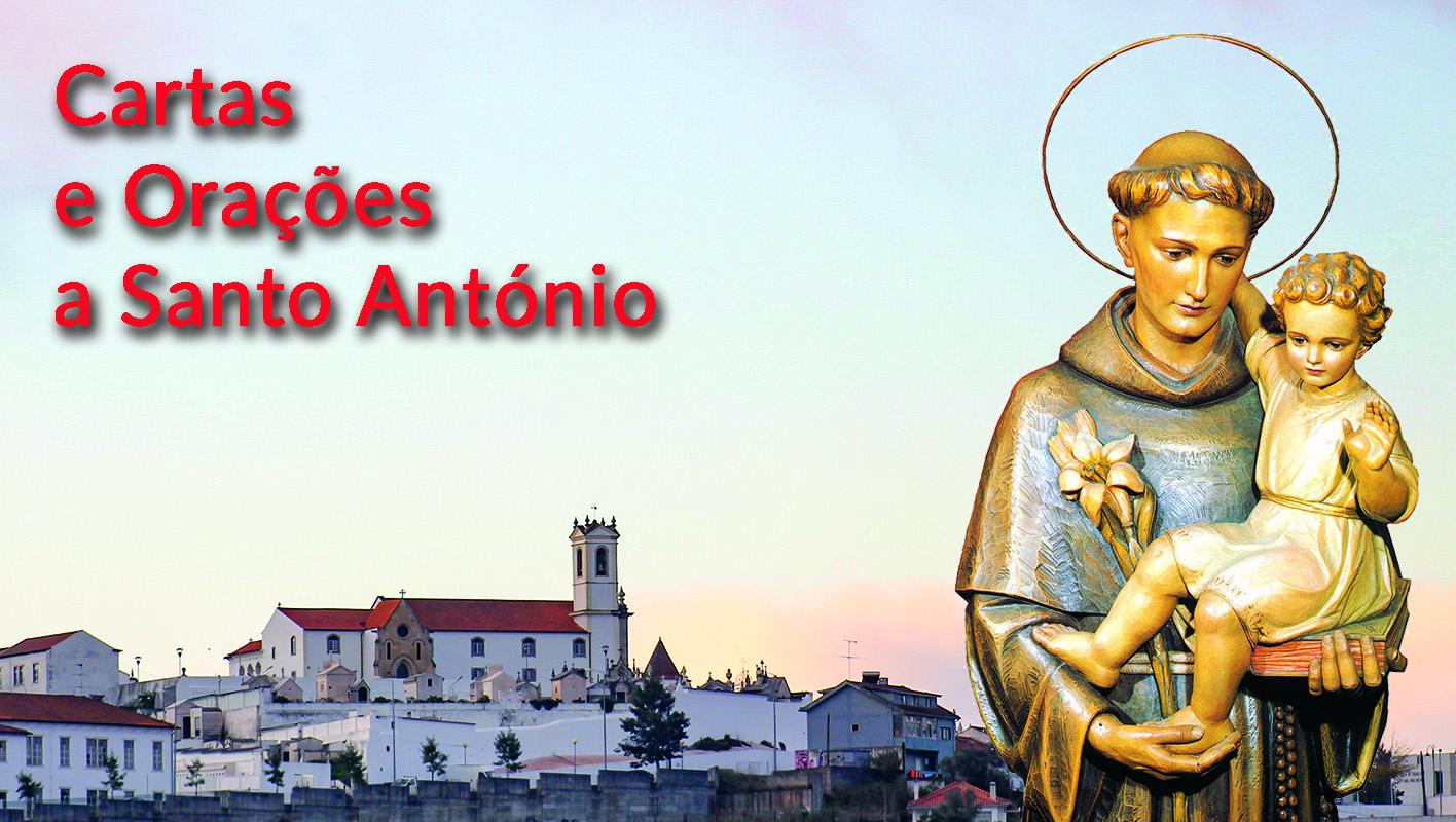 Cartas e orações a Santo António, depositadas junto à imagem do Santo, na igreja de Santo António dos Olivais ou enviadas para santoantonio.live.