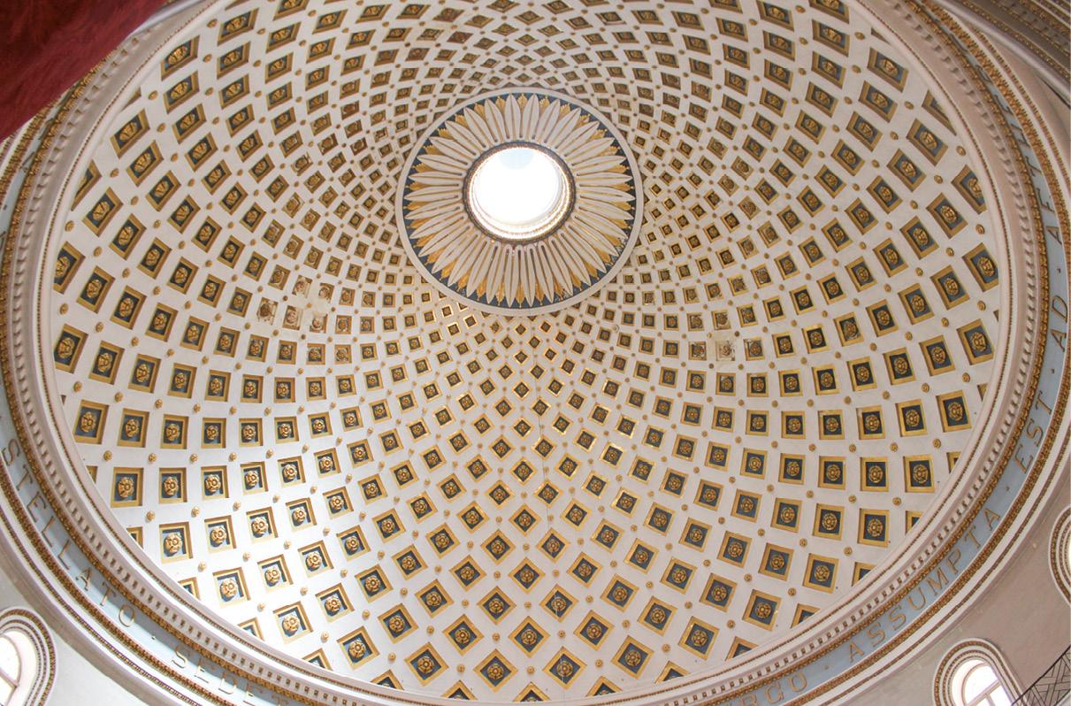 Cúpula da igreja paroquial de Nossa Senhora da Assunção, conhecida como Mosta Dome, Mosta, Malta