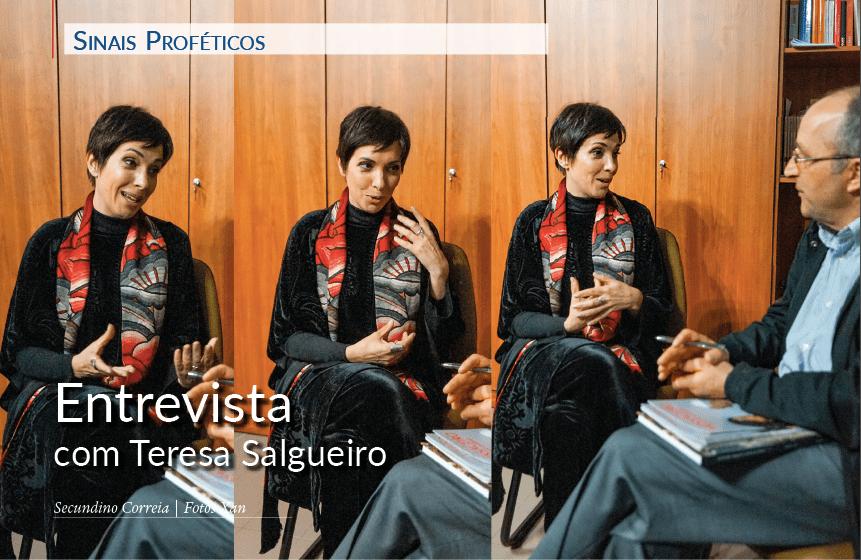 Secundino Correia entrevista Teresa Salgueiro, no final da Oratória Mariana, por ocasião dos 25 anos da dedicação da igreja de São Maximiliano Kolbe, a 28 de abril de 2018.