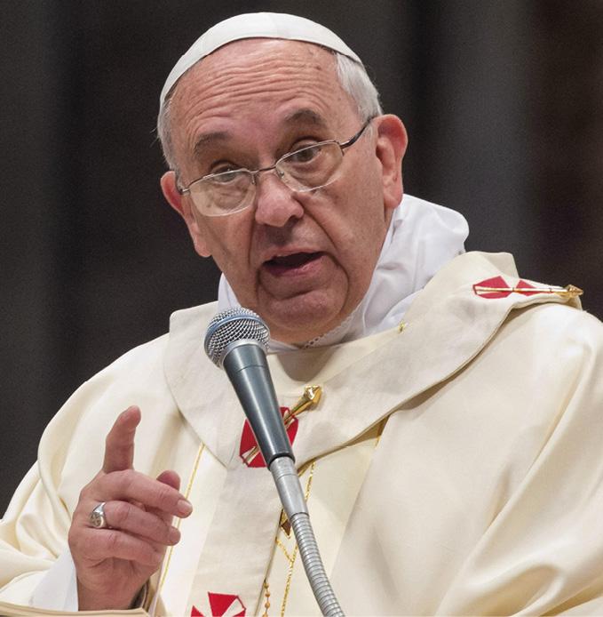 O Papa Francisco por ocasião do Dia Mundial de Oração pelas Vocações, na Basílica de São Pedro, na Cidade do Vaticano, 11 de maio de 2014. EPA / CLAUDIO PERI