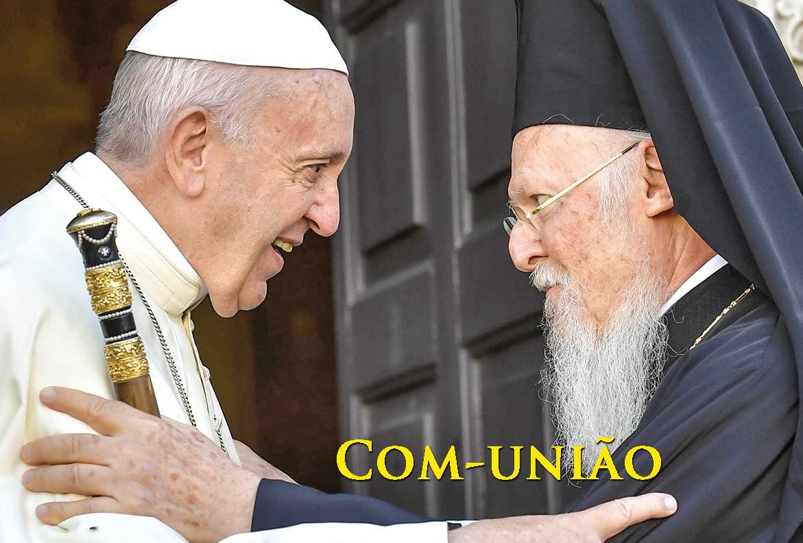 O Papa Francisco acolhe os chefes das igrejas e comunidades cristãs do Médio Oriente, na Basílica de São Nicolau, em Bari, sul da Itália, 7 de julho de 2018. EPA/Marco Tassi.