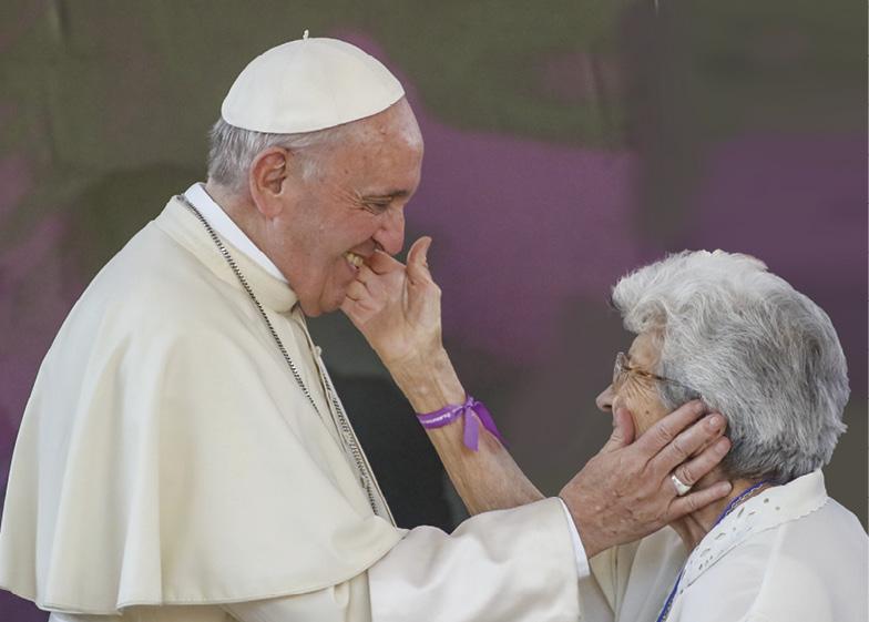 Durante a visita do Papa Francisco ao Santuário de São Alberto Hurtado, em Santiago, Chile, 16 de janeiro de 2018