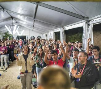 Meeting Internacional de Assis, 2018, jovens de Portugal.