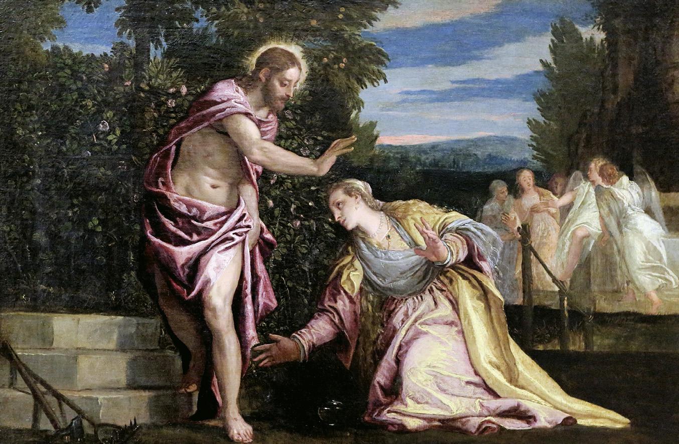 Noli me tangere - Maria Madalena e Jesus Ressuscitado, Paolo Veronese (sec XVI), museu de Grenoble, Suiça, wikimedia.org.
