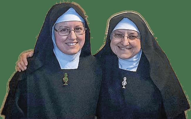 Irmã Maria Francisca com a madre a superiora.