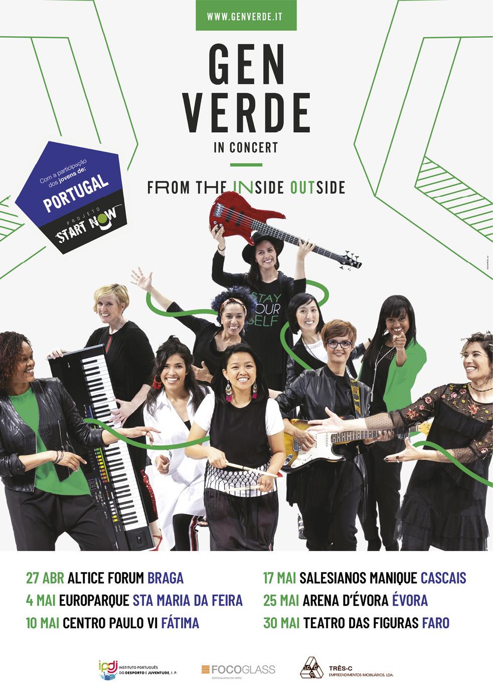 Gen Verde, cartaz da digressão em Portugal, abril - maio 2019