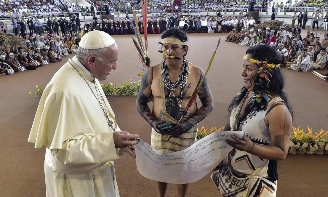 Encontro do Papa com os povos da Amazónia (durante a visita do Papa ao Peru), passo importante em direção ao Sínodo sobre a Amazónia.