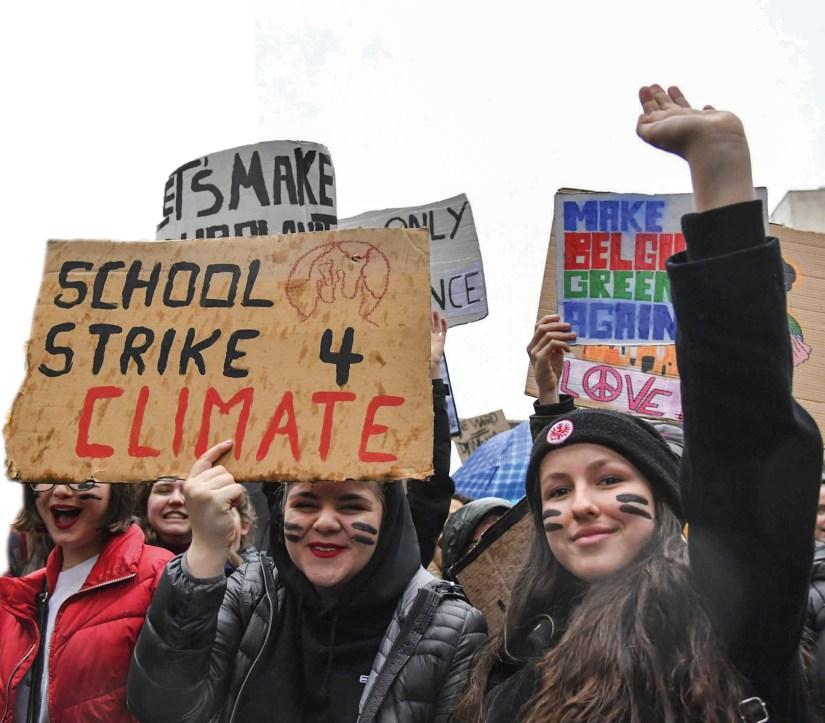 School strike 4 climate - Greve climática estudantil.