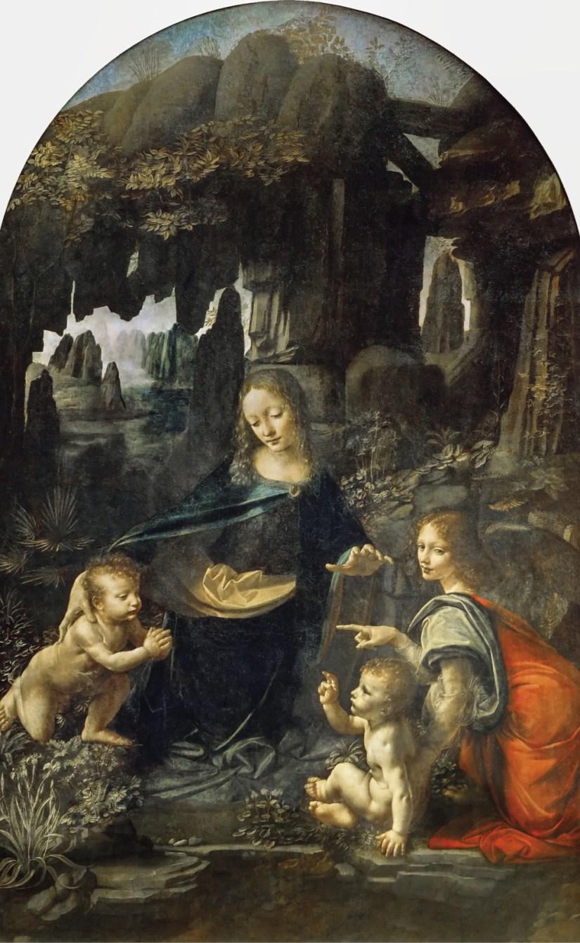 Virgem dos Rochedos, Leonardo da Vinci, Museu do Louvre (1483-1486)
