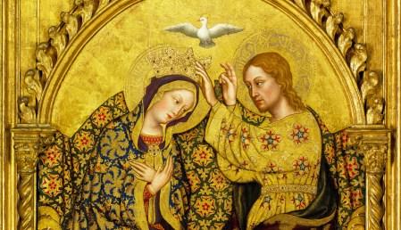 Coroação da Virgem, pintura a óleo e folha de ouro, de Gentile da Fabriano, 1420. Imagem digital cortesia de Getty's Open Content Program / Wikimedia Commons, 2018.