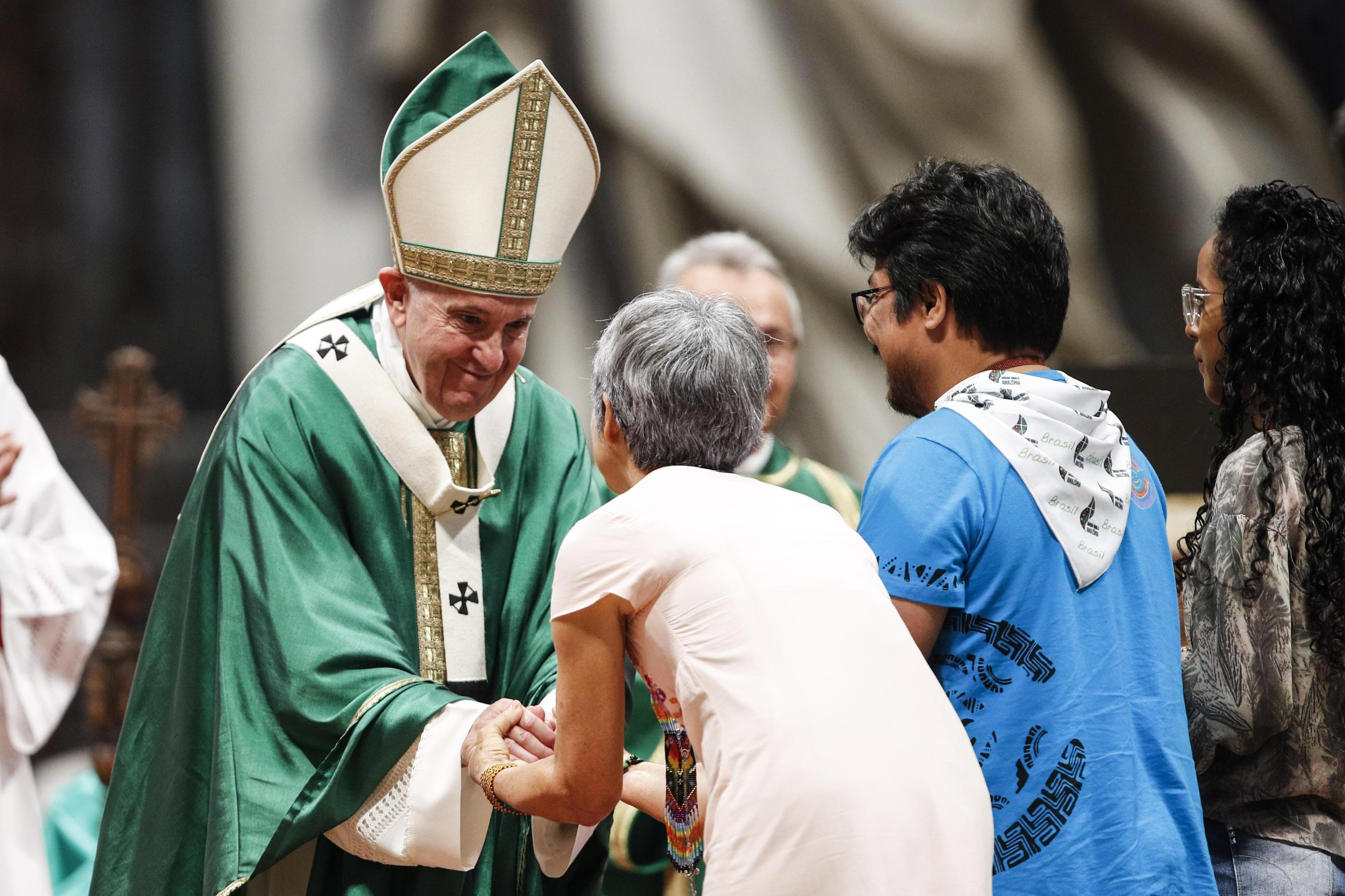 Papa Francisco preside à Missa do encerramento do Sínodo dos Bispos para a Pan-Amazónia