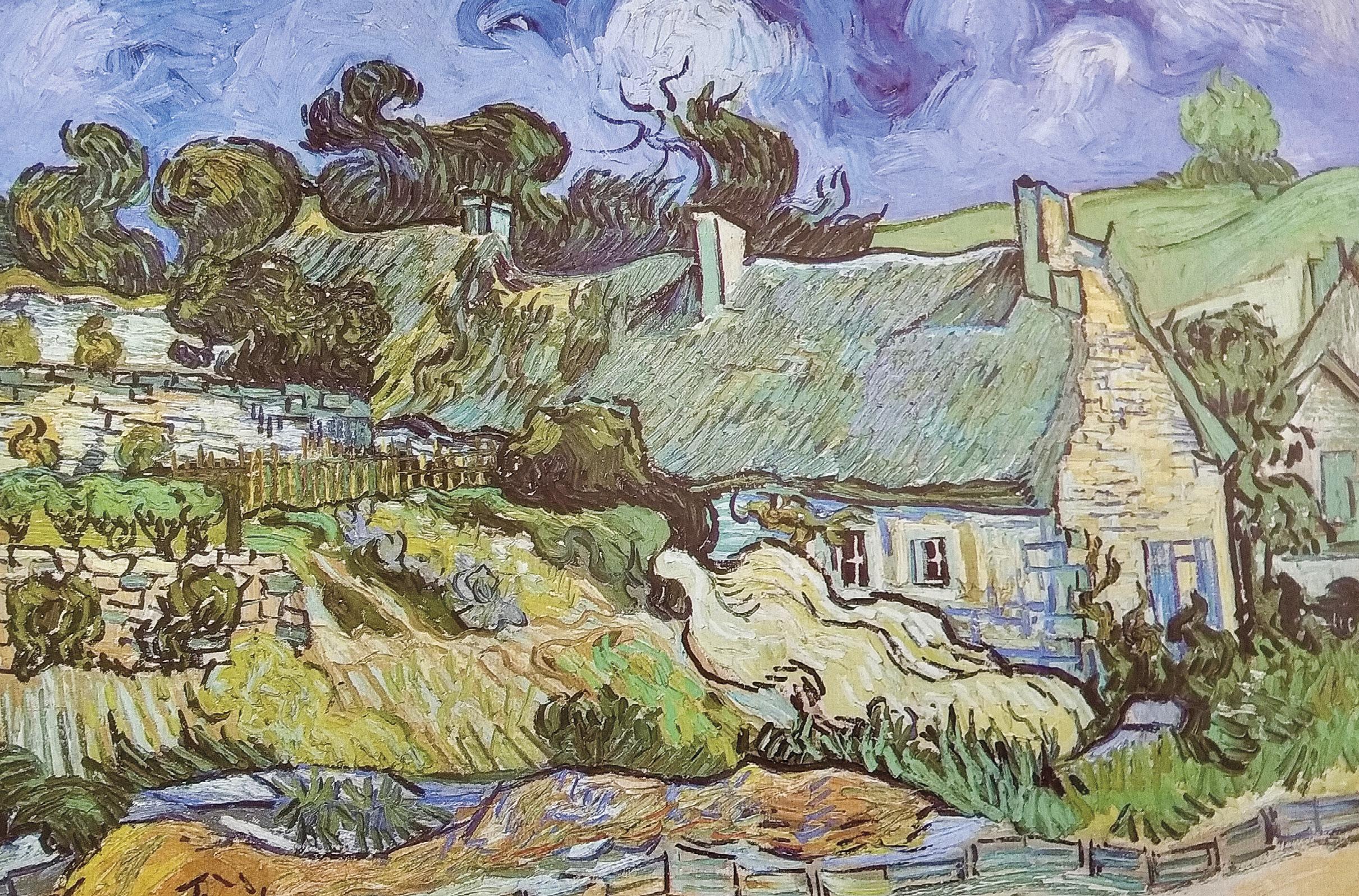 Pintura de Cézanne: na aldeia, a casa do Dr. Gachet. Em 1877 o Impressionismo. No Impressionismo, o artista pinta o que vê, o que o impressiona, não propriamente o que lá está!