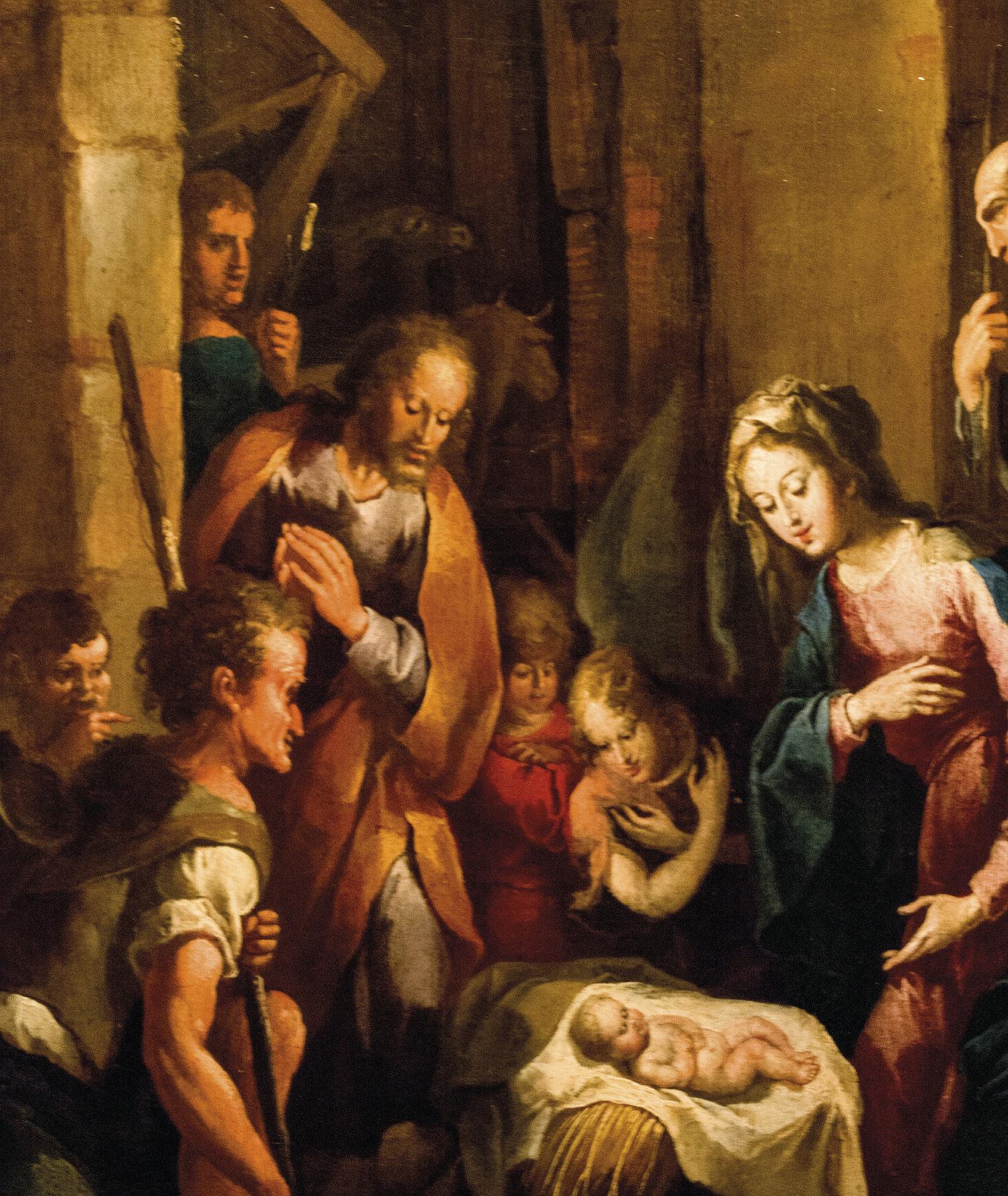 O nascimento de Jesus. Tela na Igreja de São Roque, Lisboa. Foto: Alex Balzanella, Commons | Wikimedia, 2016.