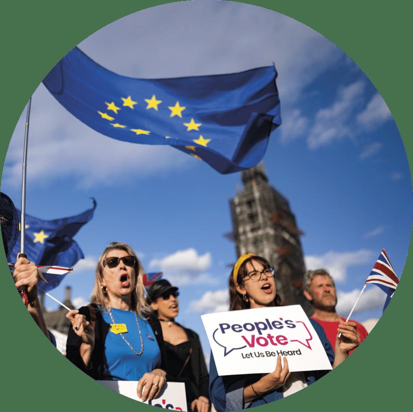 Manifestação em Londres contra o Brexit, 4 de setembro de 2019. Foto EPA | Will Oliver.