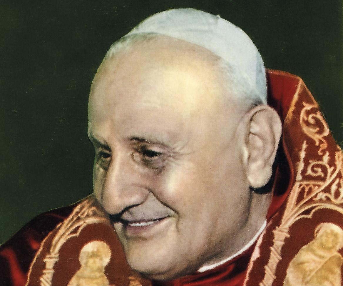 São João XXIII (1881-1963), o Papa do aggiornamento, convocou o Concílio Vaticano II, inaugurando um tempo de atualização e mudança na Igreja.
