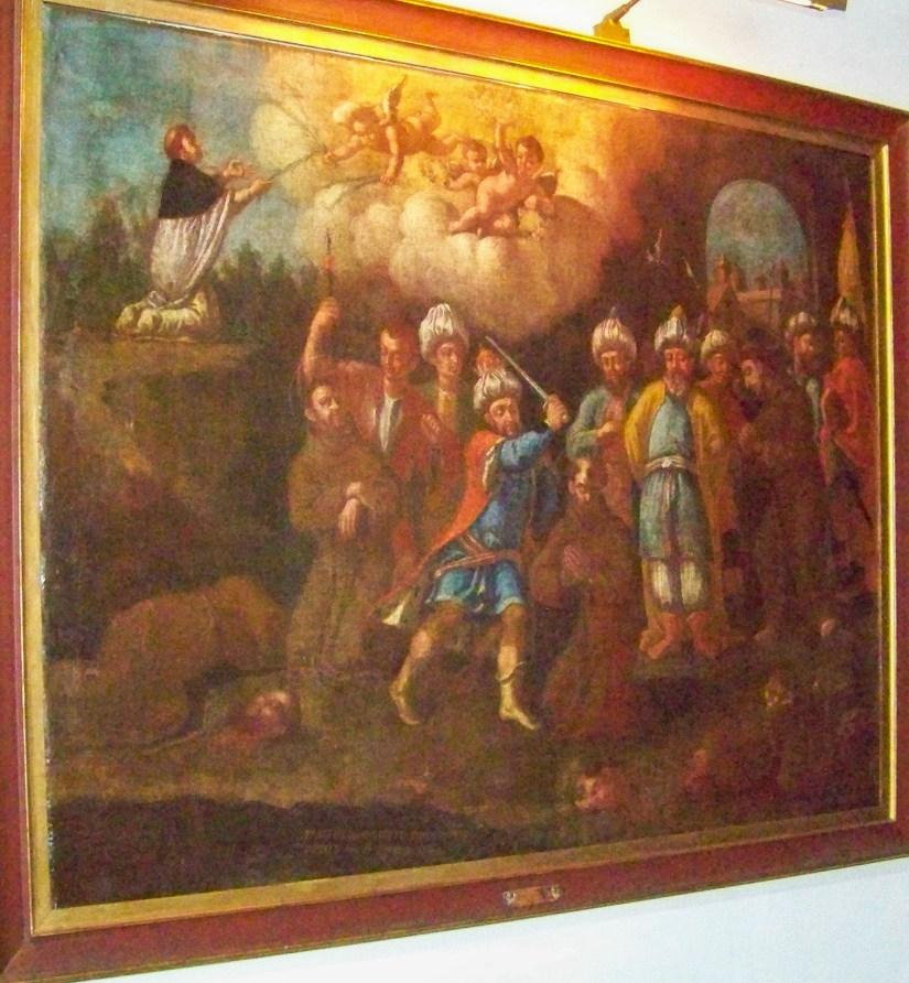Mártires de Marrocos. António Paschalis Parente sua Devotion pixit Anno Domini 1781.