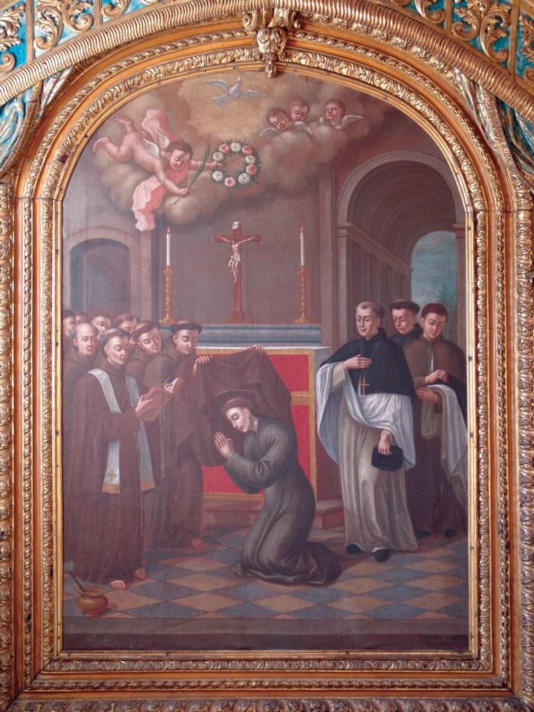 Santo António veste o hábito franciscano – Sacristia Quadro de Pascoal Parente (1796)