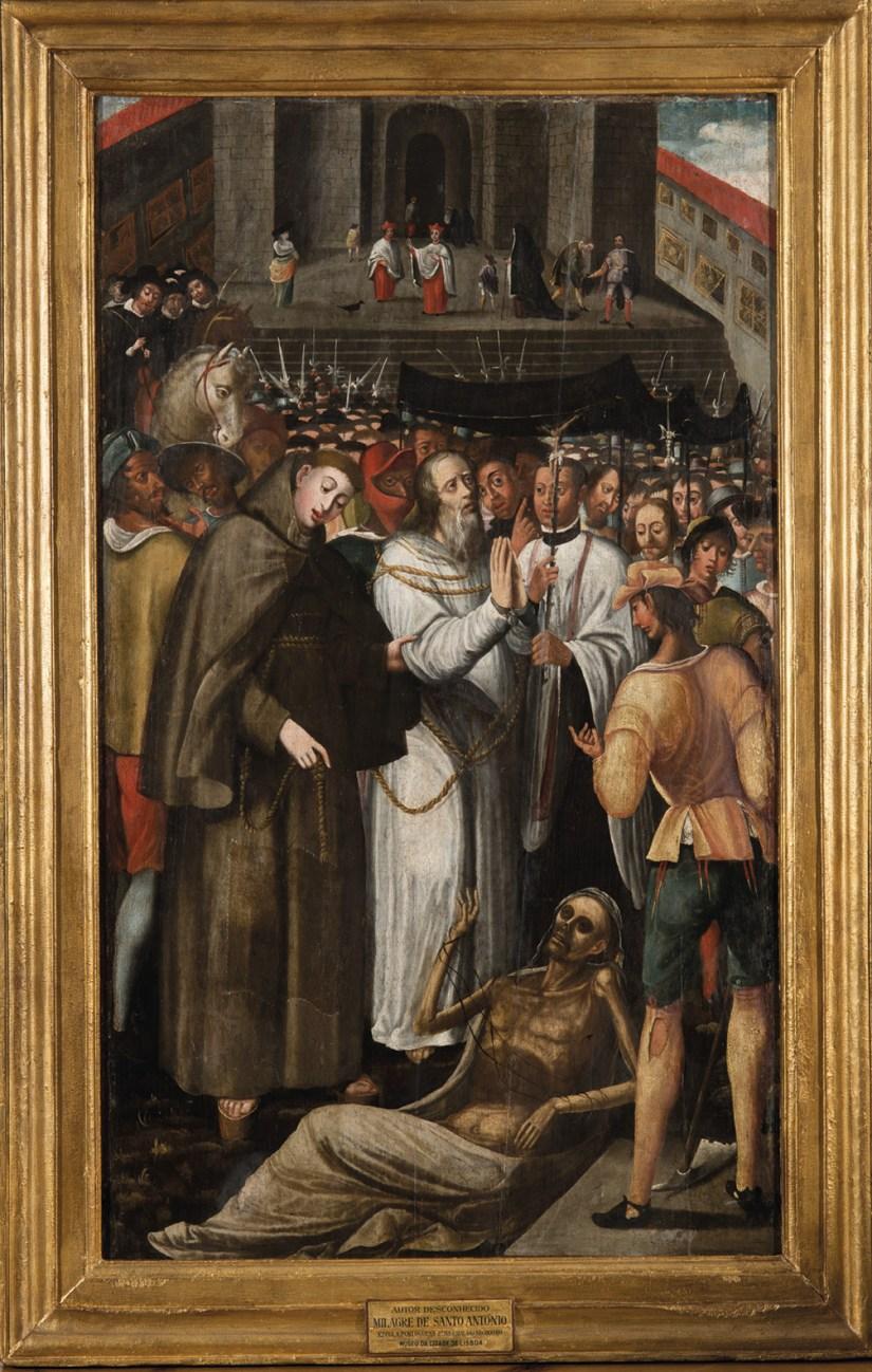 Santo António livrando o pai da forca Óleo sobre madeira, autor desconhecido, séc. XVI. MA.PIN.0001. © Museu de Lisboa – Santo António.