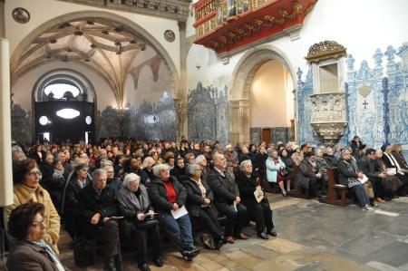 Peregrinação da Família Franciscana na Festa dos Santos Mártires de Marrocos, Igreja de Santa Cruz, Coimbra. Foto Correio de Coimbra, Miguel Cotrim.