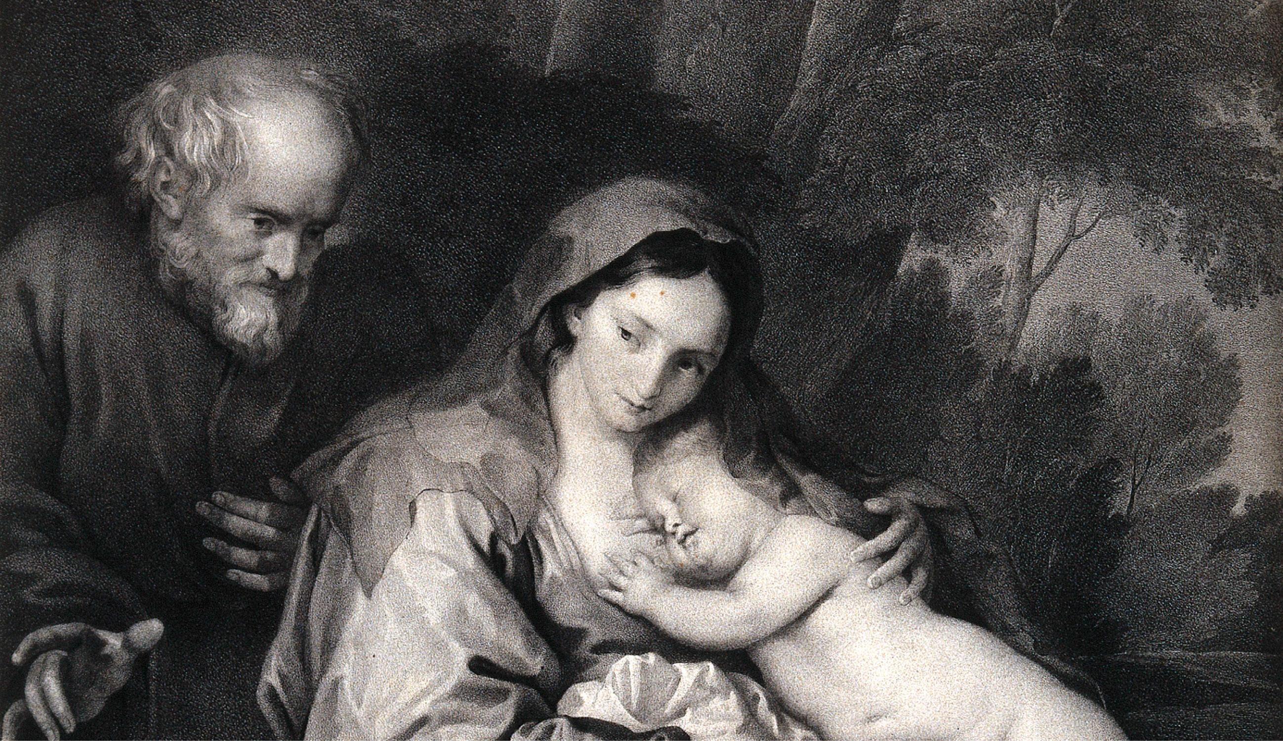 São José esposo de Maria. Litografia de F. Piloty segundo Sir A. van Dyck. Wellcome Library, London | Commons.wikimedia.org.