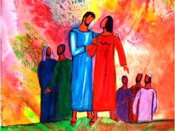V domingo da Quaresma - A, Gv 11,1-45. Lázaro, Marta, Maria, Ressurreição, de Bernardette Lopez