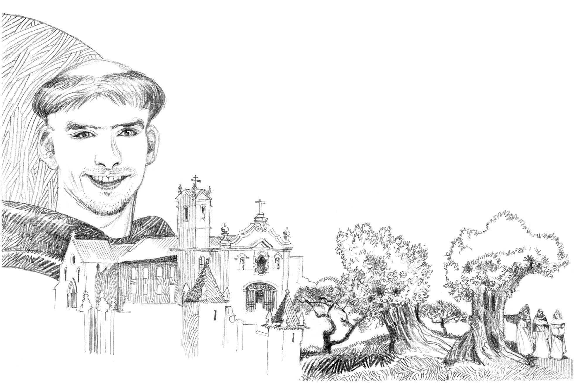 A vocação de Santo António. Ilustração: Luca Salvagno.