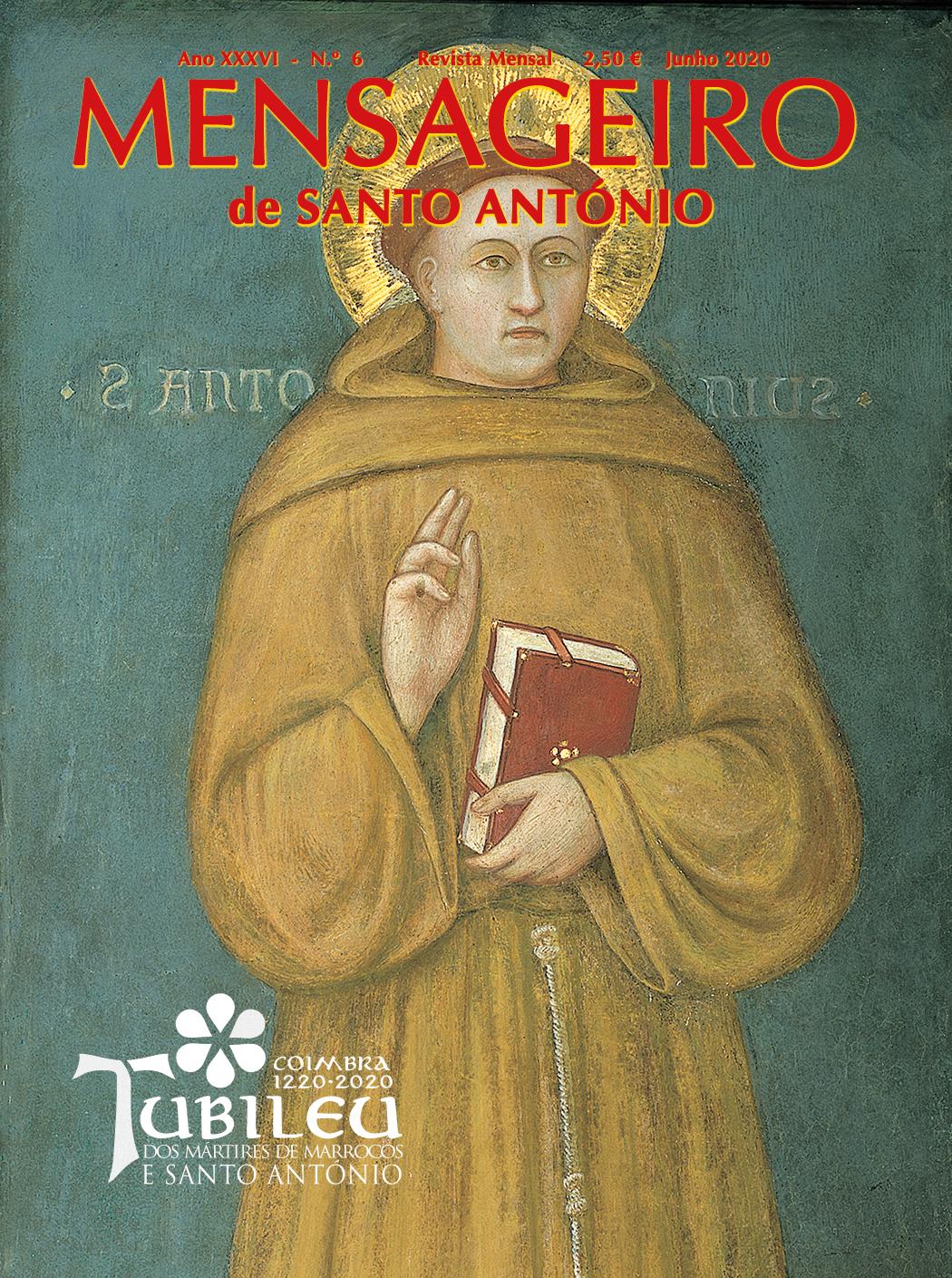 Capa Mensageiro de Santo António junho 2020, Jubileu de Santo António 2020