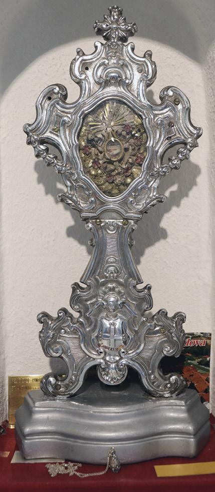 Relíquia que é exposta em ocasiões especiais