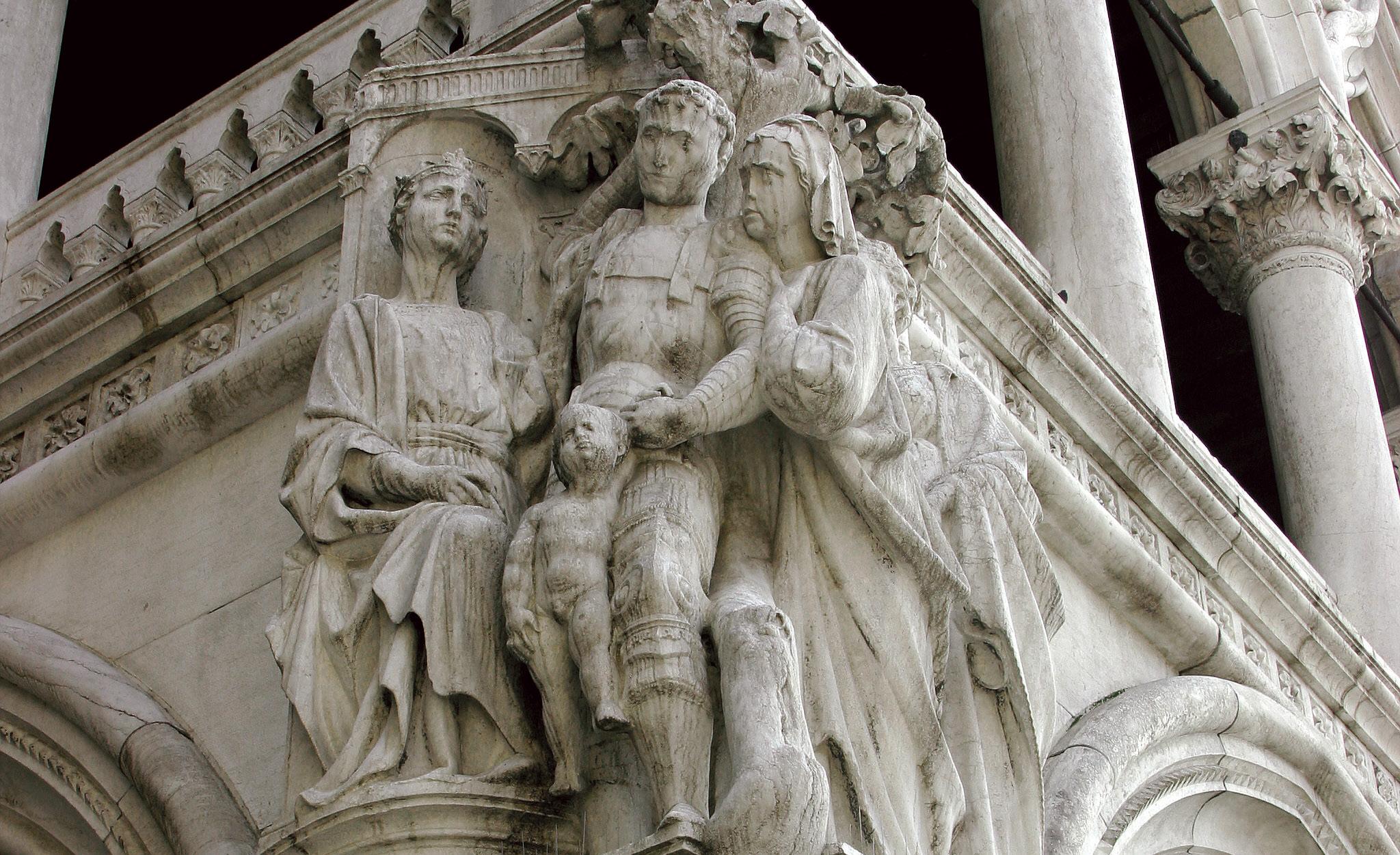 Veridicto do rei Salomão no Palácio do Doge, Veneza, Itália