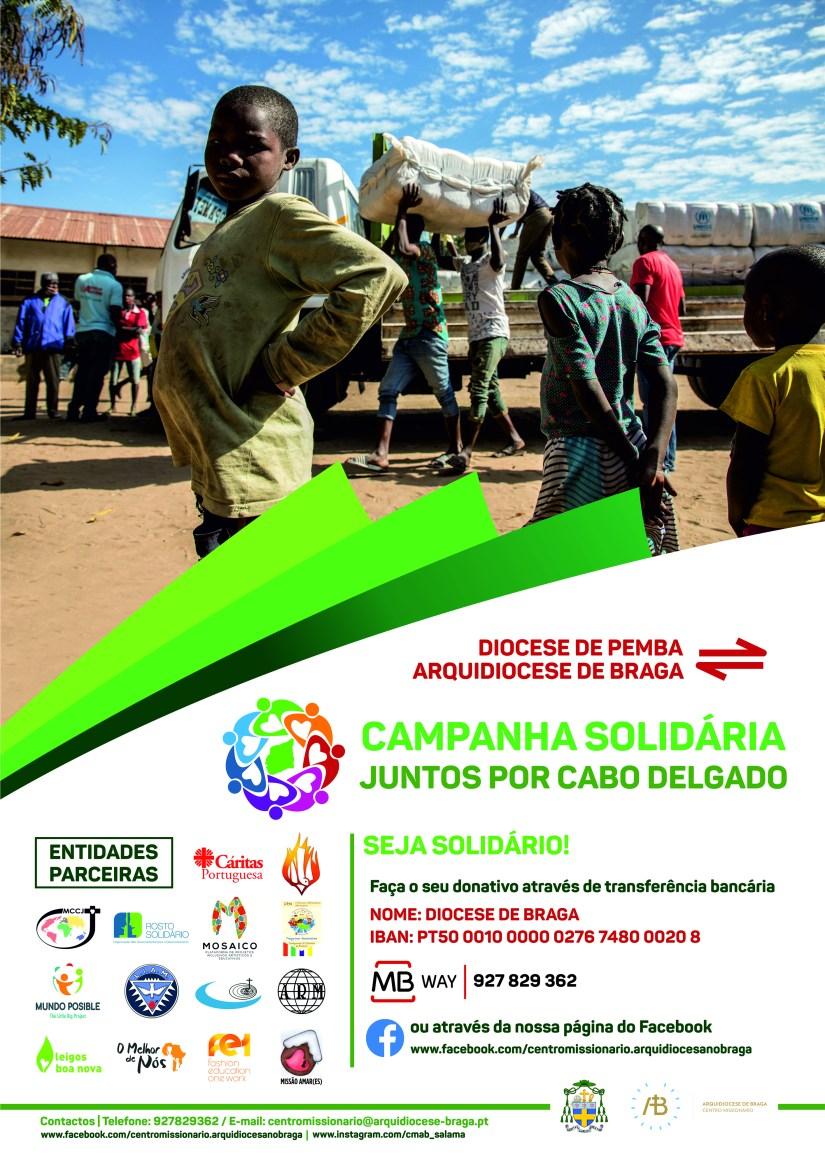 Campanha solidária juntos por Cabo Delgado.