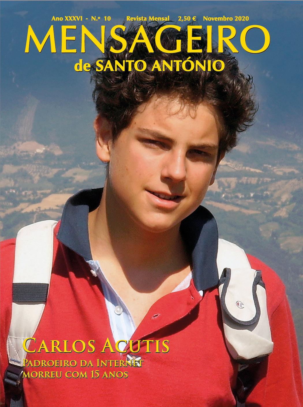 Capa da revista Mensageiro de Santo António - novembro 20220